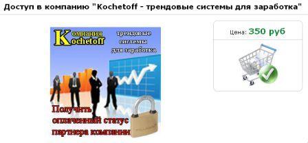 Доступ в компанию Кочетов за символическую плату