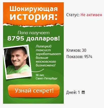 баннербро - статистика показов